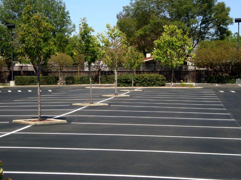 tarred parking areas